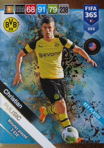 2019 FIFA 365  KEY PLAYER PULISIC 322