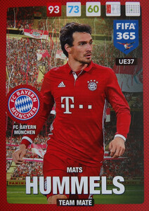UPDATE 2017 FIFA 365 TEAM MATE MATS HUMMELS #37