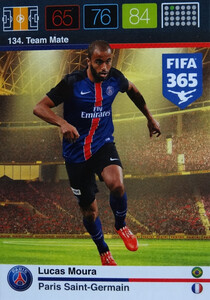 2016 FIFA 365 TEAM MATE PARIS SAINT-GERMAIN Lucas Moura #134