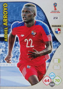 WORLD CUP RUSSIA 2018 TEAM MATE PANAMA ARROYO 251