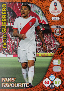 WORLD CUP RUSSIA 2018 FANS FAVOURITE GUERRERO 388