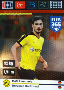 2016 FIFA 365 DEFENSIVE ROCK Mats Hummels #250
