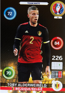 EURO 2016 TEAM MATE Toby Alderweireld #31