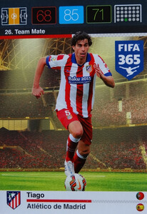 2016 FIFA 365 TEAM MATE ATLETICO de MADRID Tiago #26