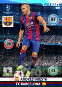 2014/15 CHAMPIONS LEAGUE® TEAM MATE Andrés Iniesta #67