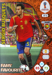 WORLD CUP RUSSIA 2018 FANS FAVOURITE BUSQUETS 373