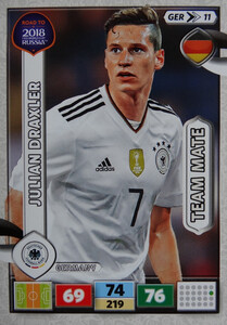 ROAD TO RUSSIA 2018 TEAM MATE NIEMCY DRAXLER 11