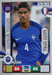 ROAD TO RUSSIA 2018 TEAM MATE FRANCJA  VARANE 3