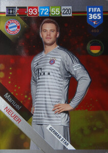 2019 FIFA 365 GERMAN STAR Manuel Neuer #403