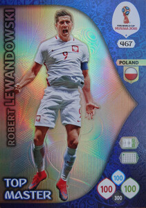WORLD CUP RUSSIA 2018 TOP MASTER LEWANDOWSKI 467