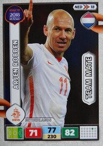 ROAD TO RUSSIA 2018 TEAM MATE HOLANDIA ROBBEN 18