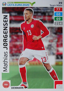 ROAD TO EURO 2020 TEAM MATE Mathias Jørgensen 39
