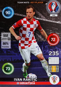 EURO 2016 TEAM MATE / KEY PLAYER Ivan Rakitić #142