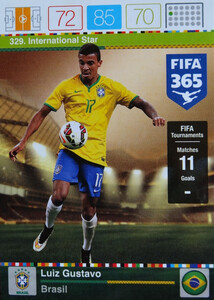 2016 FIFA 365 INTERNATIONAL STAR Luiz Gustavo #329