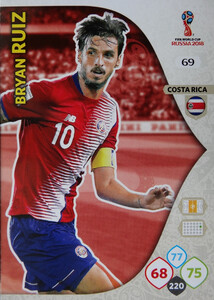 WORLD CUP RUSSIA 2018 COSTA RICA TEAM MATE RUIZ 69