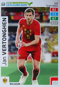 ROAD TO EURO 2020 TEAM MATE Jan Vertonghen 12