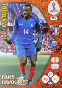 WORLD CUP RUSSIA 2018 FANS FAVOURITE MATUIDI 374