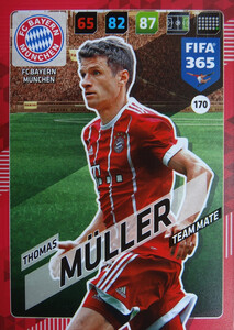 2018 FIFA 365 TEAM MATE Thomas Müller #170