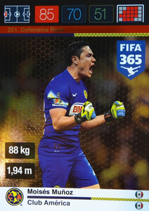 2016 FIFA 365 DEFENSIVE ROCK Moisés Muñoz #251