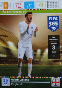 2016 FIFA 365 INTERNATIONAL STAR  Adam Lallana #338