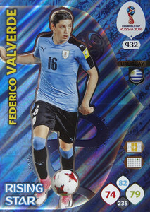WORLD CUP RUSSIA 2018 RISING STAR VALVERDE 432