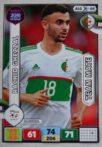 ROAD TO RUSSIA 2018 TEAM MATE  ALGERIA  GHEZZAL 08