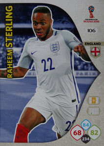 WORLD CUP RUSSIA 2018 ANGLIA TEAM MATE  STERLING 106