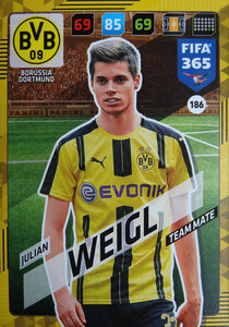 2018 FIFA 365 TEAM MATE Julian Weigl #186