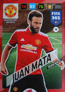 2018 FIFA 365 TEAM MATE Juan Mata #78