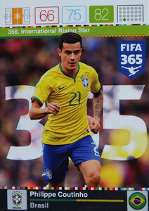 2016 FIFA 365 INTERNATIONAL RISING STAR Philippe Coutinho #358