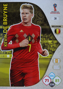 WORLD CUP RUSSIA 2018 BELGIA TEAM DE BRUYNE 31
