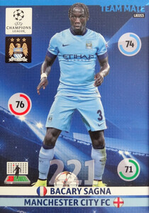UPDATE CHAMPIONS LEAGUE® 2014/15 TEAM MATE Bacary Sagna #UE053