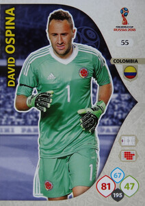 WORLD CUP RUSSIA 2018 KOLUMBIA TEAM OSPINA 55
