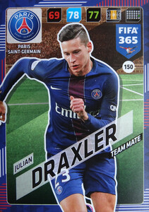 2018 FIFA 365 TEAM MATE Julian Draxler #150