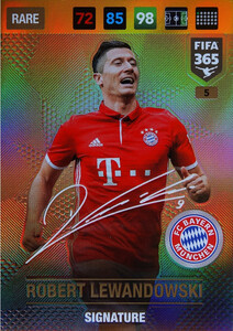 2017 FIFA 365 SIGNATURES Robert Lewandowski #5