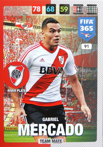 2017 FIFA 365 TEAM MATE Gabriel Mercado #91