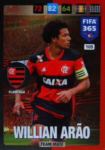 2017 FIFA 365 TEAM MATE Willian Arão #105