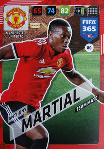 2018 FIFA 365 TEAM MATE Anthony Martial #80