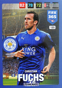2017 FIFA 365 TEAM MATE Christian Fuchs #120