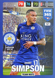 2017 FIFA 365 TEAM MATE Danny Simpson #121