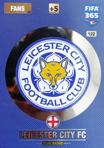 2017 FIFA 365 CLUB LOGO Leicester City FC #122