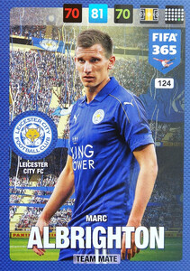 2017 FIFA 365 TEAM MATE Marc Albrighton #124