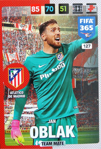 2017 FIFA 365 TEAM MATE Jan Oblak  #127