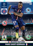 2014/15 CHAMPIONS LEAGUE® TEAM MATE Blaise Matuidi #203