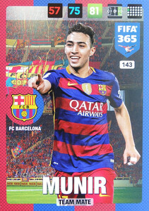 2017 FIFA 365 TEAM MATE Munir #143