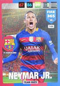 2017 FIFA 365 TEAM MATE Neymar Jr.  #144