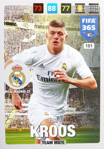 2017 FIFA 365 TEAM MATE Toni Kroos #151