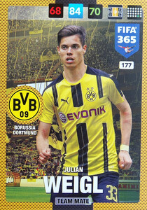 2017 FIFA 365 TEAM MATE Julian Weigl #177