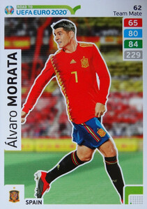 ROAD TO EURO 2020 TEAM MATE Alvaro Morata 62