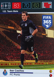 2016 FIFA 365 TEAM MATE FC PORTO Iker Casillas #122